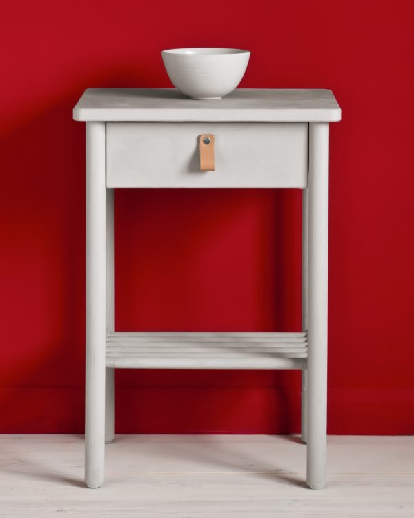 Chicago Grey side table Emperors Silk Wall Paint 1600