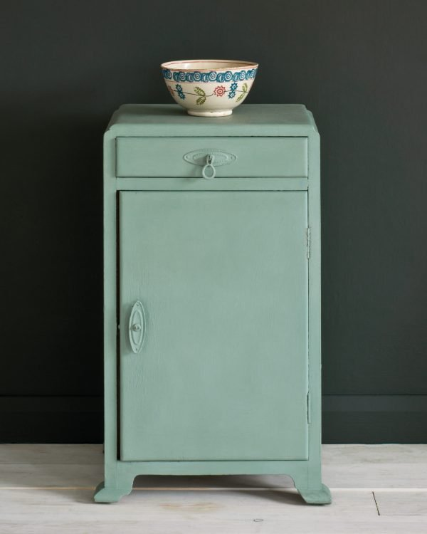 Duck Egg Blue side table Graphite Wall Paint 1600