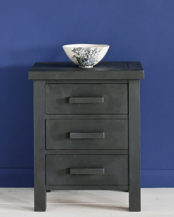Graphite side table Napoleonic Blue Wall Paint 1600