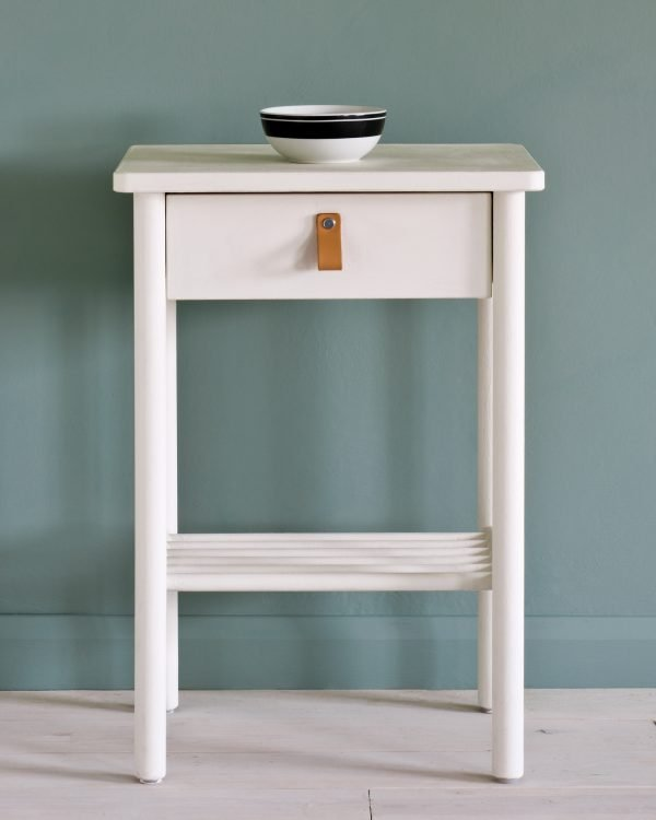 Old White side table Duck Egg Blue Wall Paint 1600
