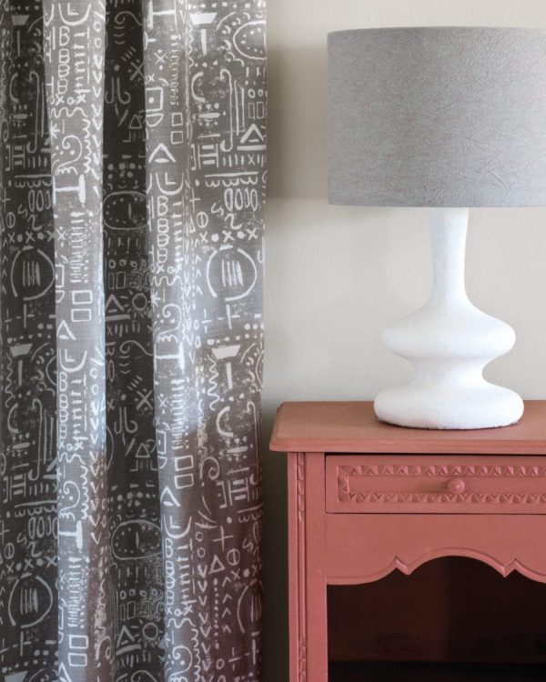 Scandinavian Pink side table Tacit in French Linen curtain Linen Union in Coco Duck Egg Blue lampshade 1600 900x1125 1